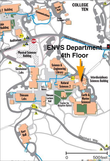 santa cruz university map Directions To Envs santa cruz university map