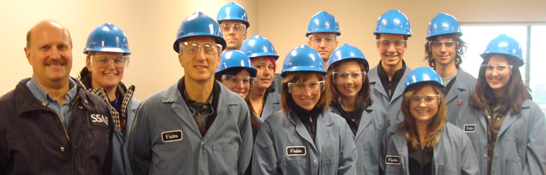 Students at steel mill, Daniel Press, 2011